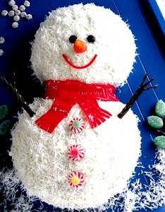 Новогодний торт Снеговик-шаг 1