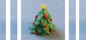 Украшение из мастики для торта - новогодняя елка. Мастер-класс