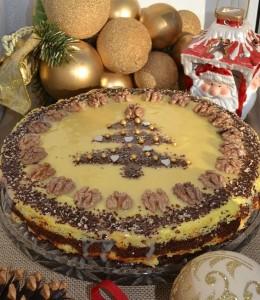 Новогодний торт с творогом Сказочная ночь