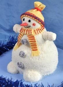 Новогодний торт на манке «Снеговики» - вкуснейшее лакомство для детишек!-шаг 1