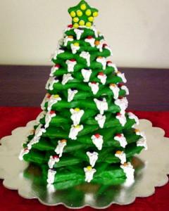 Новогодний торт Елка-шаг 1