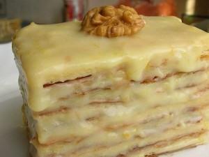 Слоеные пирожные со сгущенным молоком