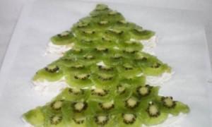 Новогодний торт Елочка с фруктами-шаг 13