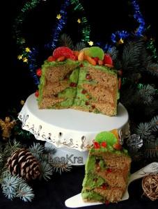 Новогодний торт Гирлянда-шаг 2