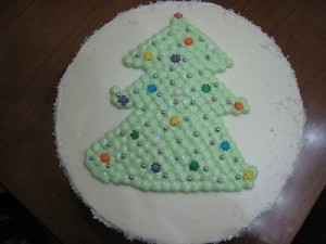 Новогодний торт Елочка с творожным суфле