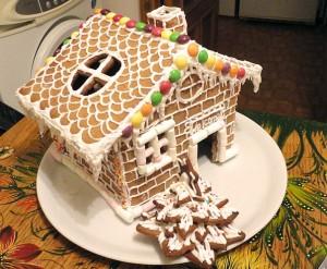 Новогодний торт Шоколадный домик