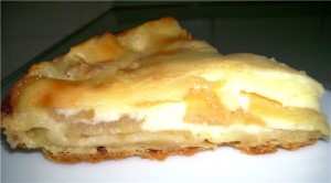 Сметанный торт с яблоками быстрого приготовления-шаг 1