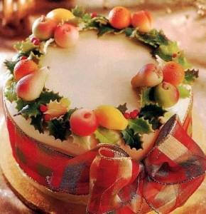 Рождественский торт марципановый Венок – как украсить