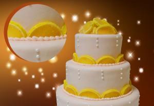 Украшения из мастики – лимон. Мастер-класс