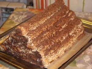 Торт Монастырская изба с ананасами быстрого приготовления