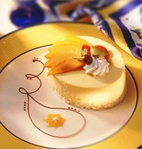 Творожный торт с манго без выпекания