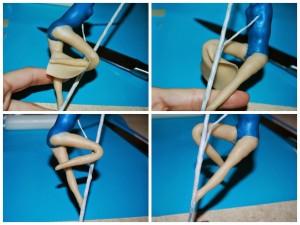 Девочка из мастики на пилоне – мастер-класс-шаг 8