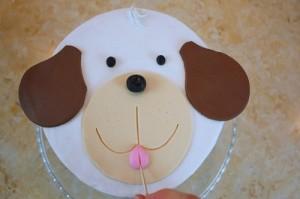 Детский торт из мастики Собачка-шаг 8