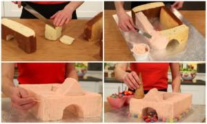 Детский торт Замок рыцарей. Как украсить