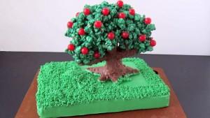 3D торт Сказочный сад - мастер-класс-шаг 12