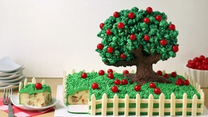 3D торт Сказочный сад - мастер-класс