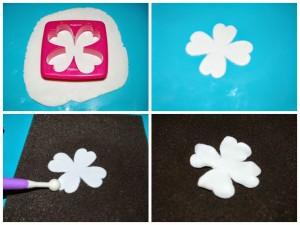 Цветы из мастики. Мастер-класс по изготовлению черно-белых цветов-шаг 2