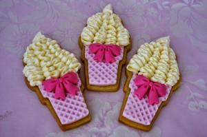 Как украсить мастикой и кремом печенье. Печень- мороженое – мастер-класс