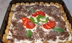 Клубнично-банановый торт Тирамису быстрого приготовления-шаг 1