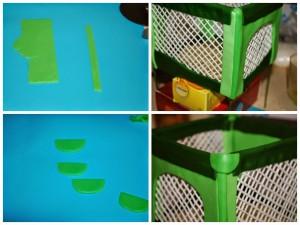 Украшения из мастики для детского торта. Манеж из мастики – мастер-класс-шаг 6