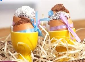 Шоколадные пирожные. Пирожные Пасхальные яйца