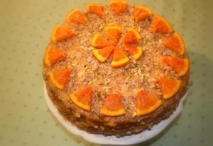 Постный торт с фруктами. Фруктовый торт для вегетарианцев