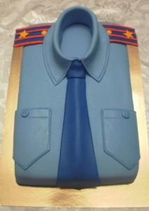 Торт из мастики Рубашка с галстуком – видео-рецепт