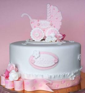 Коляска на торт из мастики