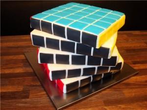 Торт Кубик Рубик – видео-рецепт-шаг 2