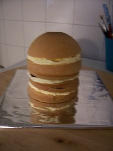 3D торт Наряд невесты. Свадебный торт из мастики – мастер-класс-шаг 2