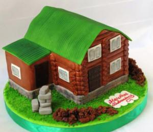 Торт из мастики. 3D торт Домик для гномиков. Видео-рецепт-шаг 3