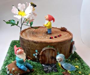Торт из мастики. 3D торт Домик для гномиков. Видео-рецепт