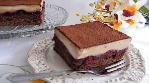 Шоколадный торт с черешнями Капучино