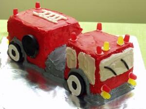 3D торт Пожарная машина – видео-рецепт