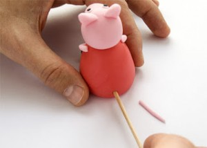 Животные из мастики – Свинка Пеппа-шаг 20