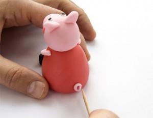 Животные из мастики – Свинка Пеппа-шаг 21