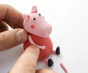 Животные из мастики – Свинка Пеппа-шаг 23