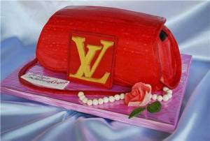 3D-торт из мастики. Торт Сумка – видео-рецепт