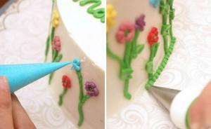 Красивый свадебный торт. Как украсить свадебный торт-шаг 3