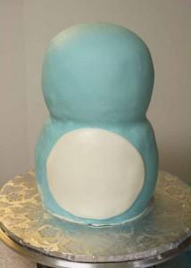 Торт из мастики. Торт Сова – мастер-класс-шаг 2