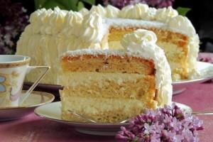 Бисквитный торт Фантазия