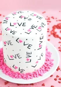 Торт из мастики Для любимых