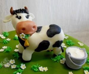 Фигурки из мастики – корова. Видео-урок-шаг 3