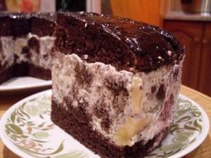 Шоколадный торт с маком и фруктами-шаг 1