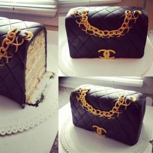 3D-торт из мастики. Торт Сумка – видео-рецепт-шаг 4