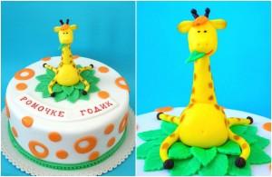 Животные из мастики – забавный жираф. Видео