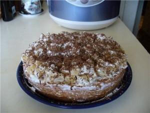 Сметанный торт Кучерявый. Торт в мультиварке