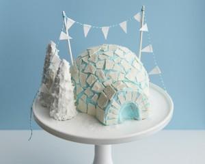 Как украсить торт. Торт Иглу – мастер-класс