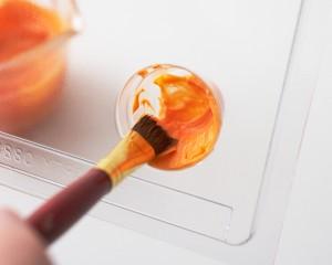 Пирожные Горшочки с цветами. Как украсить пирожные – мастер-класс-шаг 2
