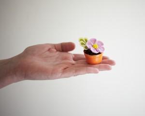 Пирожные Горшочки с цветами. Как украсить пирожные – мастер-класс
